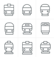 Line Icons Style Set of transport icons - Train an vector image