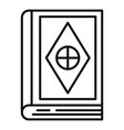 magic old book icon outline style vector image vector image