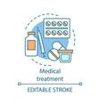 medical treatment concept icon medications idea vector image vector image