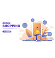 online shopping banner layout vector image vector image