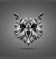 owl bird low poly design vector image vector image