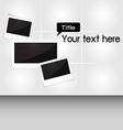 Photo frame for your text vector image
