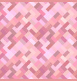 pink geometric diagonal rectangle mosaic tile vector image vector image