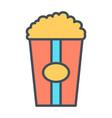 popcorn line icon vector image vector image