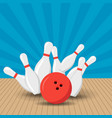 poster games in the bowling club vector image vector image