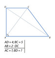problem of finding a diagonal trapezoid-01 vector image vector image