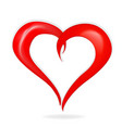 red heart symbol icon vector image vector image