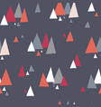 seamless pattern with triangle mountains vector image vector image