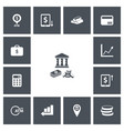 set of 13 editable financial icons includes vector image