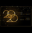 shining 2020 happy new year background golden vector image vector image