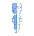 silhouette specialist doctor with medical uniform vector image