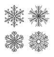Snowflake Icons Set on White Background vector image vector image
