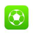 soccer ball icon digital green vector image vector image