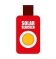 solar bloquer isolated icon design vector image