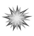 starburst icon monochrome vector image vector image