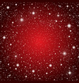 starry sky with red glow shining stars dark sky vector image