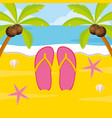 summer time holiday beach vector image vector image