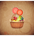 sweets on crumpled paper vector image vector image