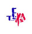 texas state handwritten emblem vector image