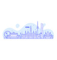 vienna skyline austria city buildings vector image