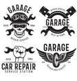 vintage car service badges templates emblems vector image vector image