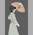vintage geisha vector image