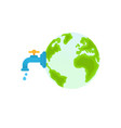 water world day concept water tap with a drop vector image