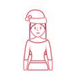 christmas hat design vector image