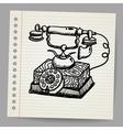 Doodle vintage phone vector image