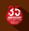 35 Years Anniversary Celebration Design vector image vector image
