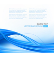 abstract blue elegant business background horiz vector image vector image
