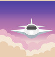 airplane aerial view art with beautiful background vector image vector image