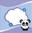 banner for children with panda animal in blue vector image