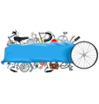 Banner with Bicycle Spares vector image