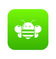 bee icon green vector image