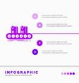 belt box conveyor factory line infographics vector image vector image
