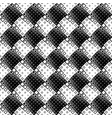 black and white diagonal square pattern vector image vector image
