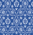Blue lace Seamless abstract floral pattern vector image vector image
