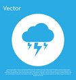 blue storm icon isolated on blue background cloud vector image vector image