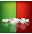 Celebration greeting with white Christmas vector image vector image