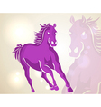 chinese new year 2014 running horse vector image vector image