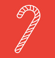 christmas candy cane line icon new year vector image vector image