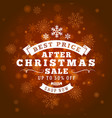 christmas sale poster design holiday shopping vector image vector image