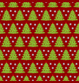 christmas tree seamless pattern christmas vector image