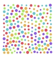 color background of many bright cirles vector image vector image
