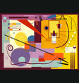 composition of abstract colorful shapes -17-176-a vector image vector image
