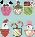 Cute multicolored pockets vector image vector image