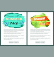 discount with 45 and 15 off only at summer poster vector image vector image