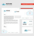 downloading business letterhead envelope and vector image vector image