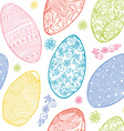Easter eggs seamless pattern Ornamental hand drawn vector image